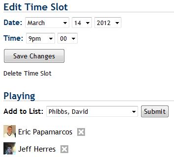 Tennis Club Website Indoor Hours Edit Time Slot